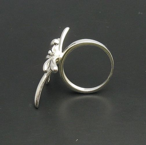 FASHION STERLING SILVER RING FLOWER 925 NEW QUALITY